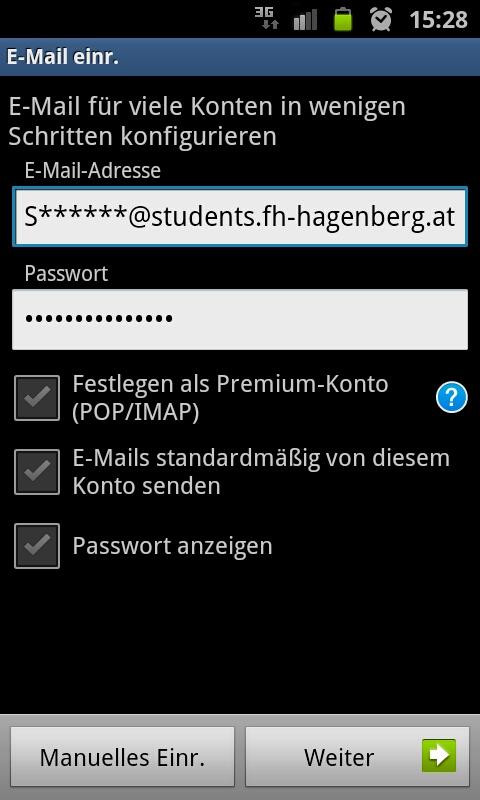 E-Mail-Konto einrichten